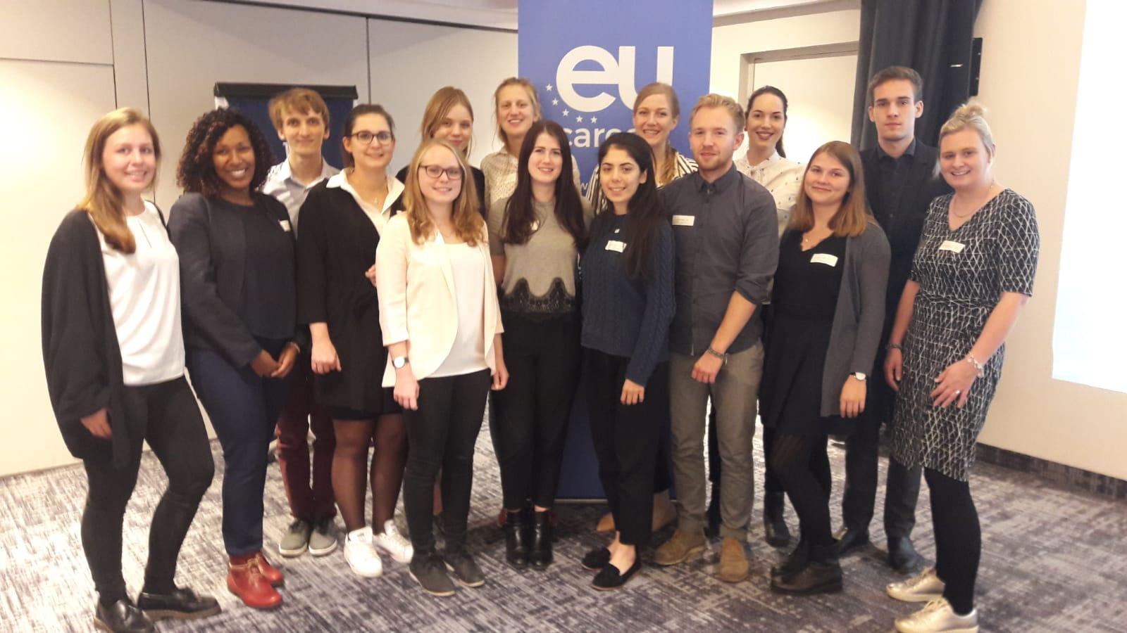 Meet the EU careers ambassadors. Vernetzungsseminar in Brüssel 2018 Foto: Sarah Baumann